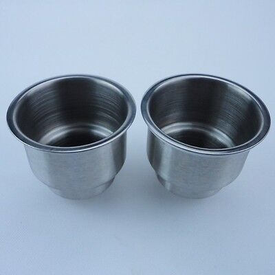 Newly 2 Stainless Steel Cup Drink Holder Marine Boat Car Truck Camper RV