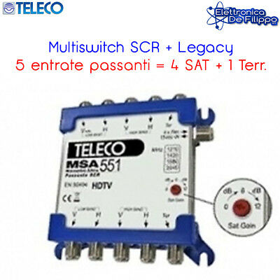 Multiswitch A 4 Ingressi Sat E 4 Uscite Emmeesse 80491S