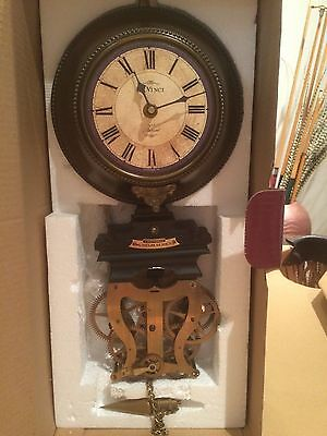 TIMEWORKS BRASS WALL CLOCK- ANTIQUE / VINTAGE REPLICA-NEW IN BOX