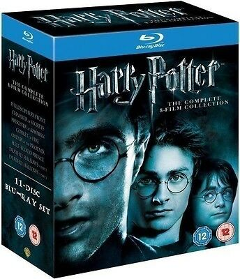 Harry Potter COMPLETE 8-Film Collection BLU-RAY 11-DISC Box Set Complete Years