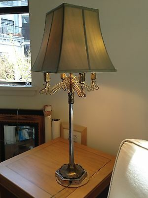 Vintage Frederick Cooper for Tyndale Chicago Art Nouveau Style MCM Table Lamp