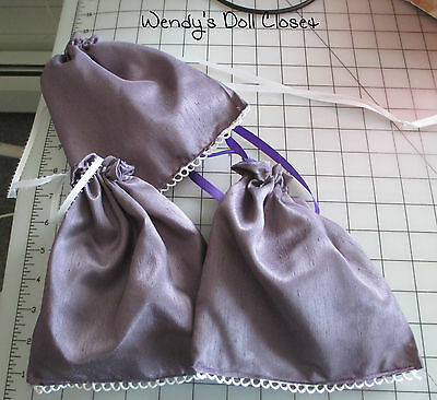 Regency Era/Jane Austen~ Reticule~New ~ Handmade~Purple Shantung 1