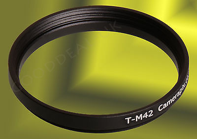 T2 T-mount to M42 T-M42 lens converter adapter ring 42mm mm M42x1 42x0.75-42x1