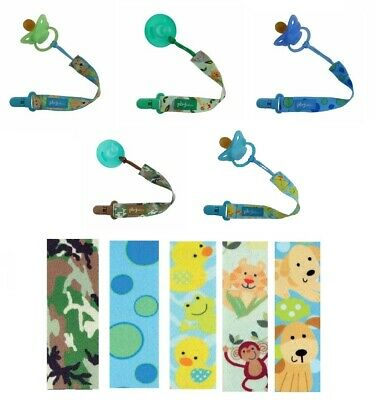 PBnJ Baby Universal Pacifier Soothie Paci Clip Holder Tether