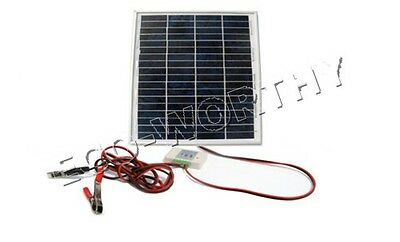 20Watt Solar System Kit W/ battery clips & 3A controller for 12V battery charge