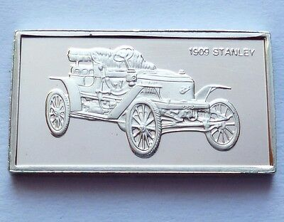 Classic Cars Stanley 1909 Silver Proof Ingot Made from Franklin Mint !