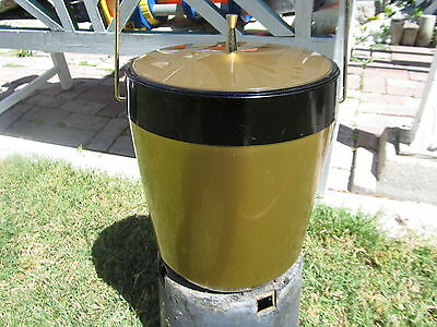 VINTAGE 60'S DECO  GOLD AND BLACK ICE BUCKET