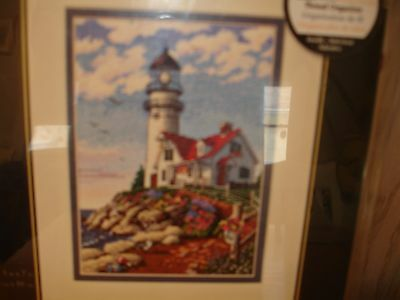 Dimensions Gold Collection Beacon at Rocky Pt. Counted Cross Stitch Kit NIP USA