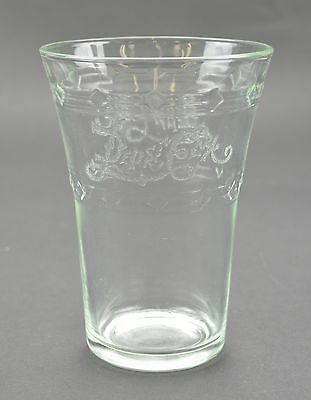"Vintage Pepsi Cola Flared Etched Glass 4.75"" Tall Collectible Advertising Cups"