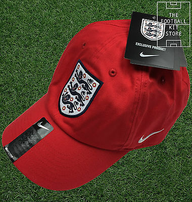 England Nike Cap - Red - Official England Nike Adults Cap - One Size Fits Most