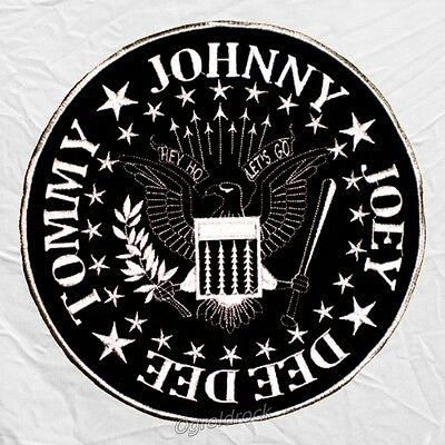 Ramones Shield Logo Embroidered Big Patch Back Johnny Tommy Joey Dee Dee