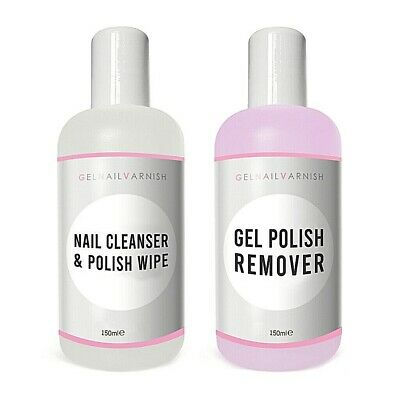 Cco Uv Led Soak Off Nail Gel Remover And Cleanser 150Ml Bottles Professional Uk