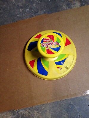 Rare Vintage Yellow Sit N Spin 1973 Spins Fast