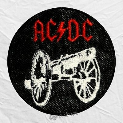 AC/DC Big Gun Logo Embroidered Patch Rock Band Album Angus Malcolm Stevie Young