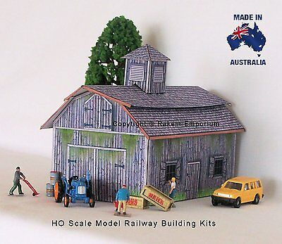 HO Scale Old Style Farm Shed Barn Large Model Railway Building Kit - REOB1