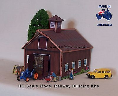 HO Scale Farm Shed Barn Large Model Railway Building Kit - REB1