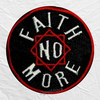 Faith No More Logo Embroidered Patch Rock Band Mike Bordin Roddy Bottum