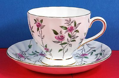 TUSCAN BONE CHINA, Cup and Saucer, Fine Condition, pattern #D1114, Roses