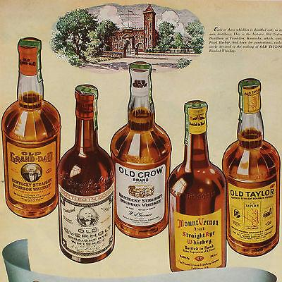 """1943 National Distillers Products Original AD / 10"""" x 13"""" / Buy 2 ADS Get 1 FREE"""