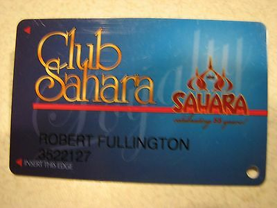 SAHARA Las Vegas Casino Hotel SLOT CARD / Players Club Card