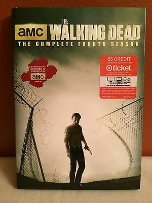 The Walking Dead:The Complete Fourth Season (DVD 5-Disc Set) Excellent Condition