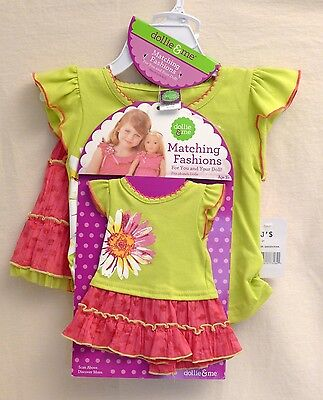 "Dollie & Me Skirt Shirt Outfit fits American Girl up to 18"" dolls Size 2T"