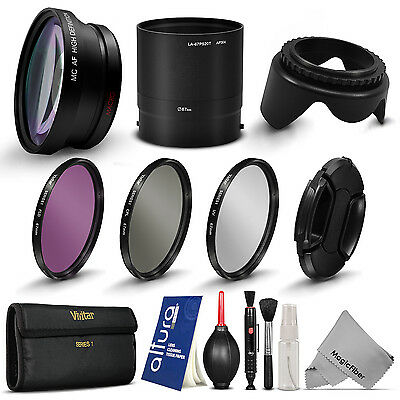 Wide Angle + Telephoto Lens & Filter Kit for Nikon Coolpix P520 P510 P530
