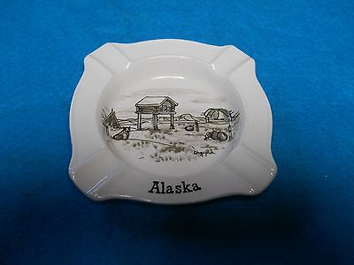 Vintage Alaska Square Falcon Ware Ashtray Weatherby Hanley England Royal