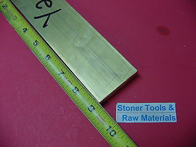 "1/2"" x 2"" C360 BRASS FLAT BAR 9"" long Solid .500"" Plate Mill Stock H02"