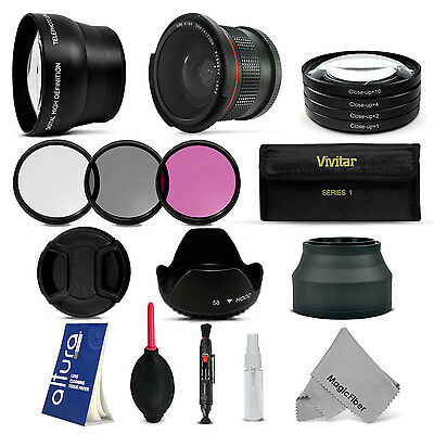 58MM Lens Filter & Accessory Kit for CANON EOS Rebel T5i T4i T3i T3 T2i XSi SL1