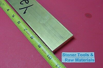 "1/2"" x 2"" C360 BRASS FLAT BAR 10"" long Solid .500"" Plate Mill Stock H02"