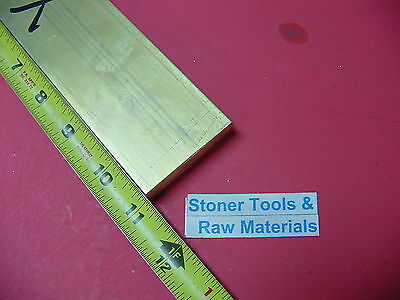 "1/2"" x 2"" C360 BRASS FLAT BAR 11"" long Solid .500"" Plate Mill Stock H02"
