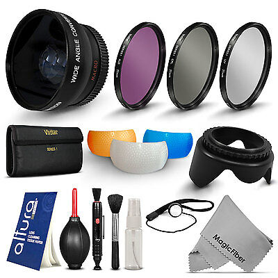 58MM Wide Angle Lens and Accessory Filter Kit for Canon Rebel T5i T4i T3i Xsi