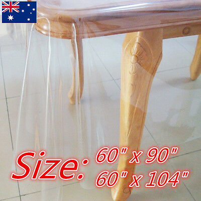 Clear Table Cloth Protector Plastic Dining Picnic Camping Kitchen Dining Bar