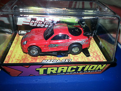 AFX, AW, JL,   MAZDA RX-7  FROM FAST & THE FURIOUS  BY JOHNNY LIGHTNING