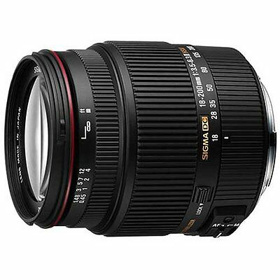 SIGMA  zoom lens 18-200mm F3.5-6.3IIDC OS HSM APS-C only for Canon
