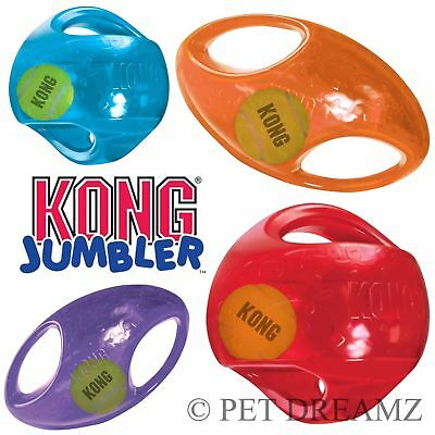 Kong Jumbler Football Or Rugby Ball Dog Fetch Toy 2 Sizes/4 Colours !!!