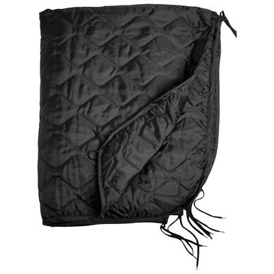 Army Ripstop GI Poncho Liner Quilted Blanket Mat Camping Travel Hiking Black