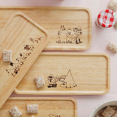 The Moomins wooden plate serving tray Little My plate food plates Moomintroll