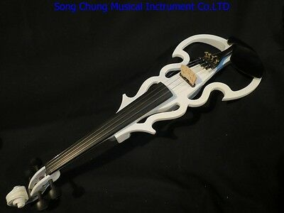 New white Song streamline 4/4 electric violin,solid wood #7855