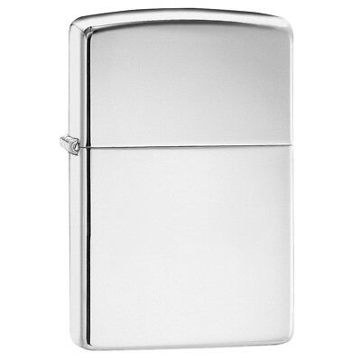 Zippo Highly Polished Chrome Refillable Classic Lighter Plain Windproof Design