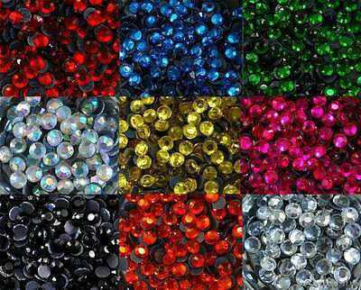 ss30 / 6mm Iron On Hot Fix Rhinestones in Varies Colours and Varies Lots