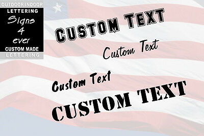 "New 2"" Custom Vinyl Lettering, Text - Personalized Wall,Window,Car Sticker Decal"