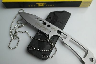 TOPS Buck CSAR-T Liaison Fixed Blade Neck Knife Sheath & Chain BACKUP 680SSS New