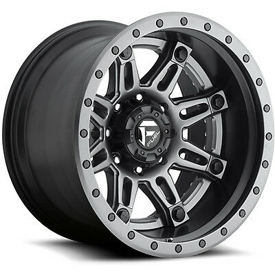"22"" x10 Fuel Hostage II D232 Anthracite Anthracite 8x180 -19 ET D23222001847 Sin"