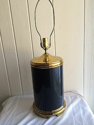 Vintage Frederick Cooper Lamp Blue with Gold Chicago Large