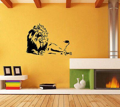 Wall stickers Home decor PVC Vinyl paster Removable Art Mural Lions Animal Run
