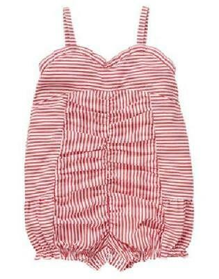 NWT GYMBOREE Venice Sweetie Red Striped One Piece 0-3 mos