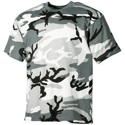 Military Mens T-Shirt Combat Tee Cadet Top with Army Print Logo Cotton Olive OD