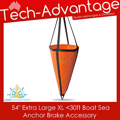 "54"" Boat Sea Anchor Brake Drogue - Suit 30Ft - 1.35M X 1.42M - Xl - Extra Large"